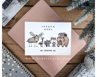 Eh Team// Merry Christmas, christmas card, greeting card, canadian, canada, eh, joke card, funny card, punny, pun, canadian gift, cards
