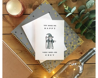 Gandalf the Grey Card // greeting card, punny, gandalf, lord of the rings, the hobbit, wizard, tolkien, love card, friend card, nerd card