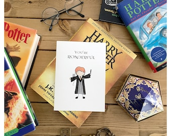 Ron Card // Ron Weasley • Harry Potter • Harry Potter card • Harry Potter love card • Harry Potter Valentine's Day card • punny • love card