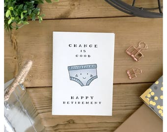 Retirement Card // funny retirement card, happy retirement, congratulations card, cute retirement card, funny card, cute card, pun card