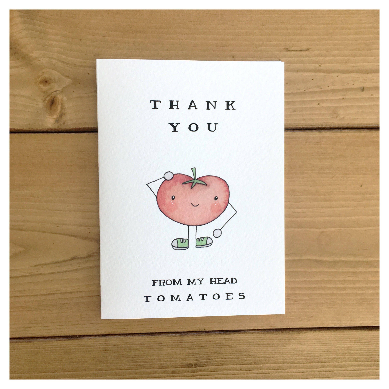 Vegetable Card Tomatoe Card Vegetable Decor Vegetable Pun Pun