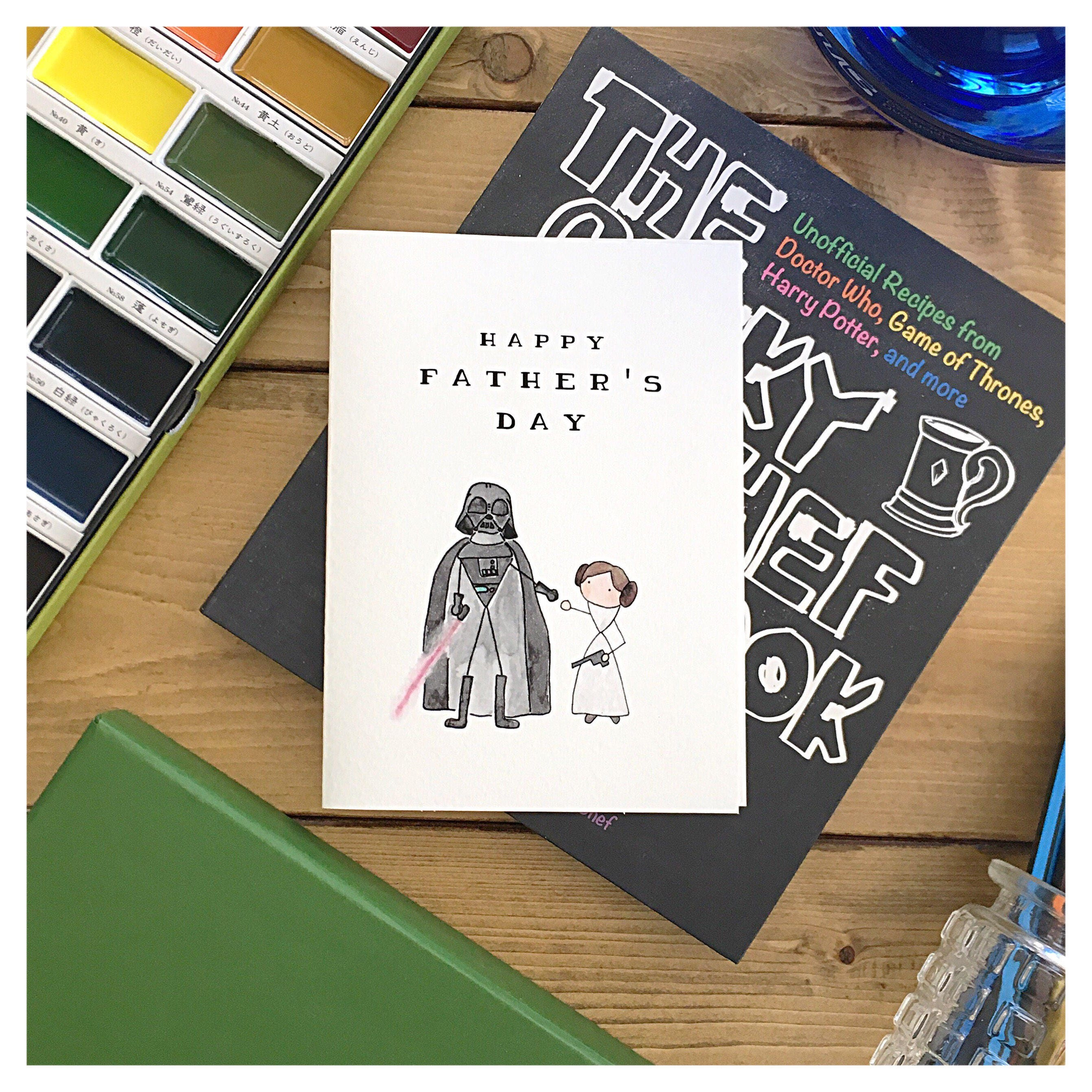 Starwars Fathers Day Card Star Wars Card Darth Vader Princess