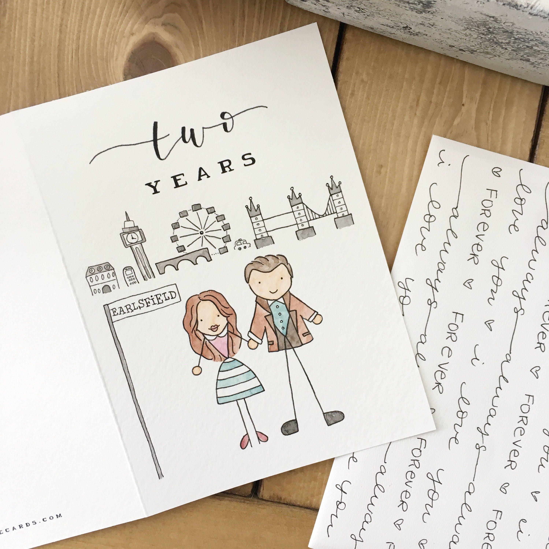 Custom Anniversary Card Anniversary Card Wedding Card Card For