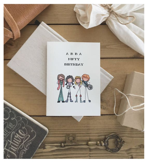 Abba Card Birthday Card Greeting Card Funny Card 50th Etsy