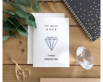 Diamond Card // i love you card, love card, valentines day card, greeting card, diamonds, clever, funny card, punny card, pun card, pun