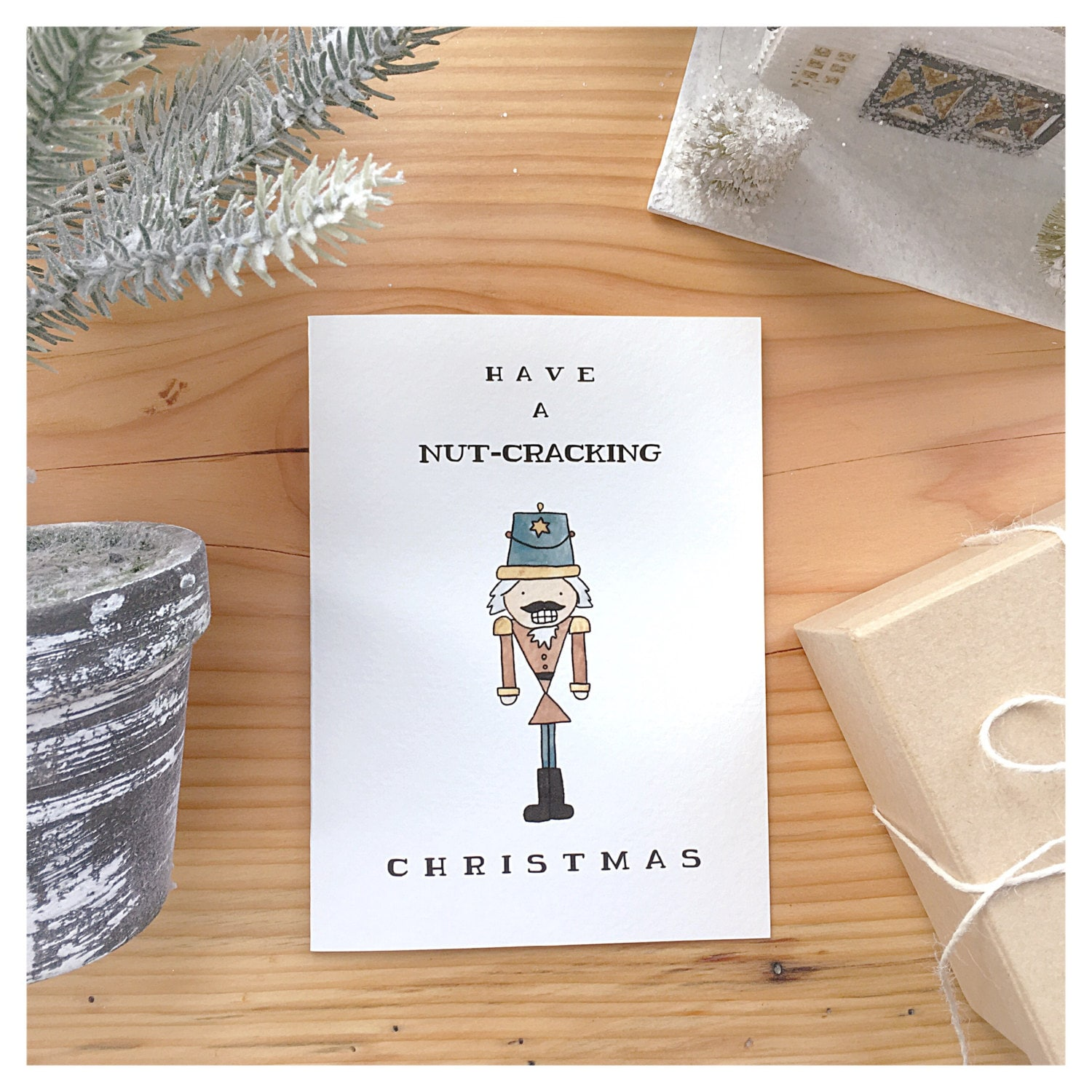 Christmas Pun.Nutcracker Nutcracker Card Christmas Card Funny