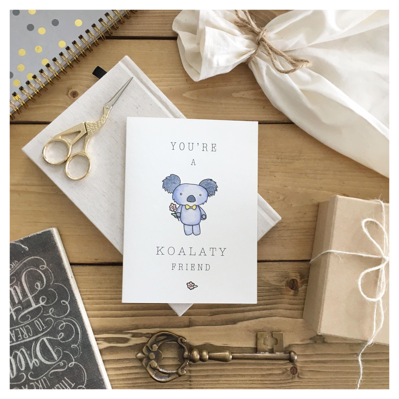 Koala Card Koala Friendship Card Funny Friendship Card Card