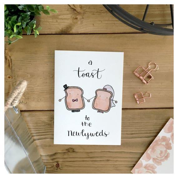 Frisch Vermahlte Paar Toast Paar Karte Hochzeitskarte Etsy