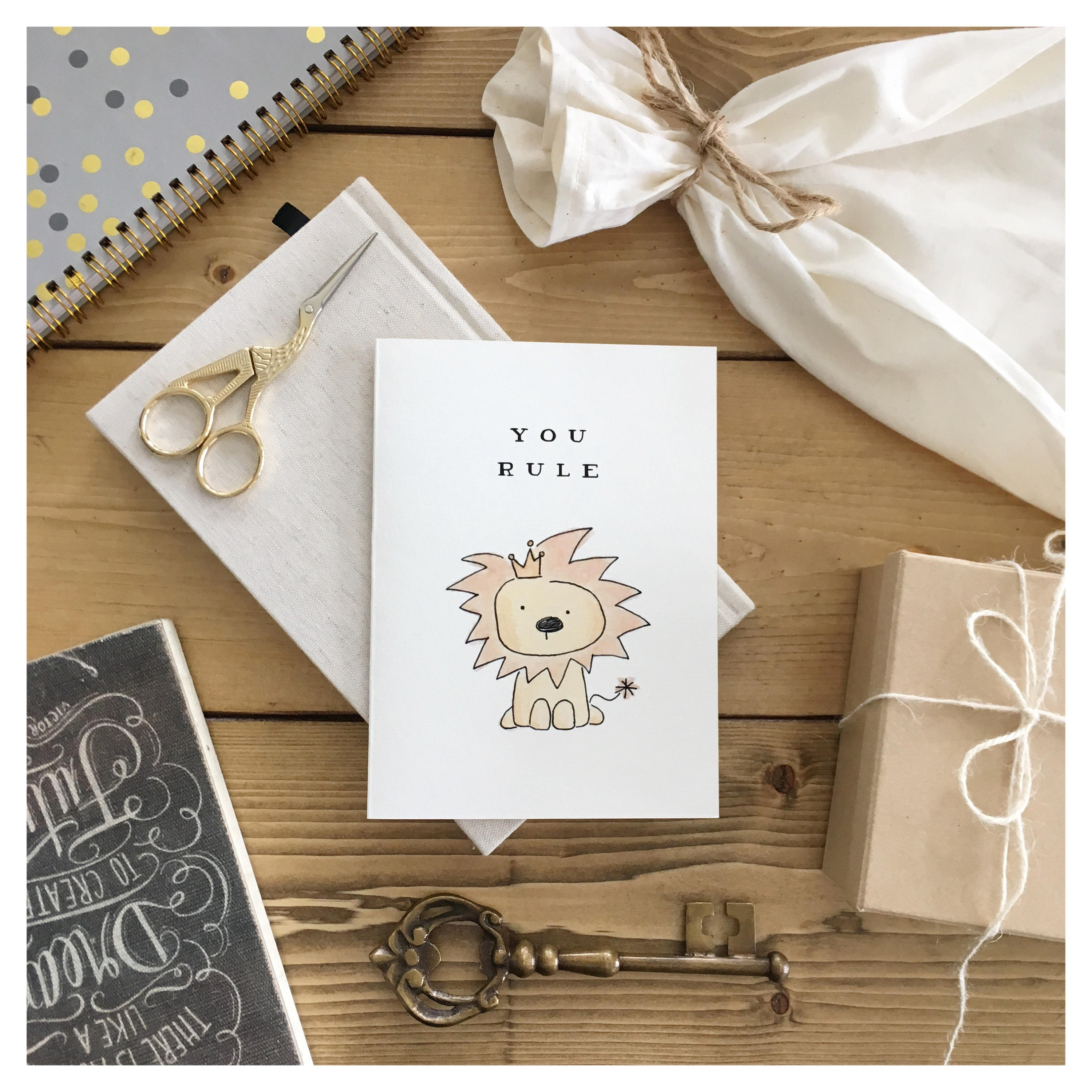 You Rule Lion Card Love Card Greeting Card Funny Card