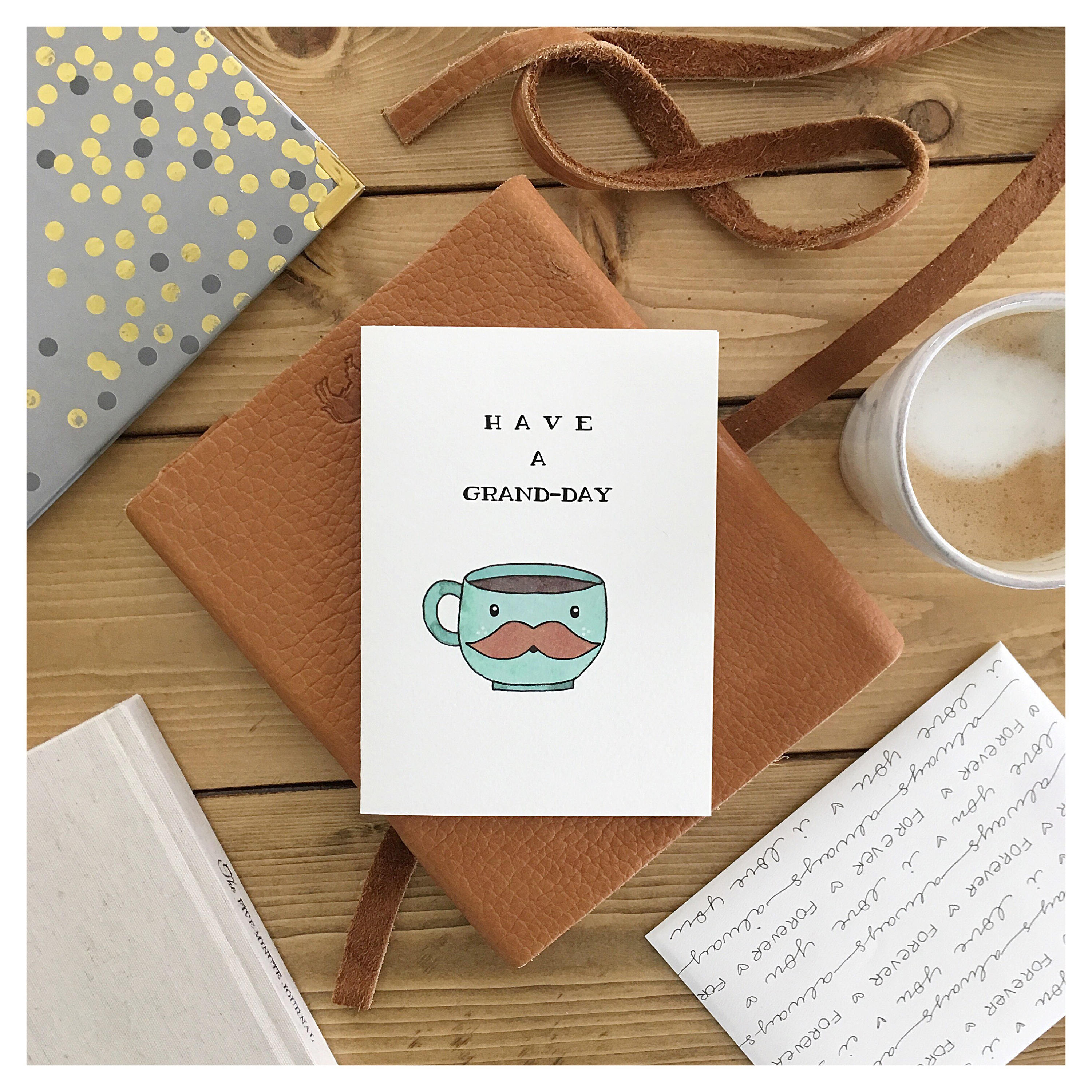 Grand Day Coffee Card // Coffee Lover Grande Pun Punny