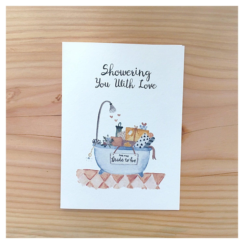 bridal shower card  bridal shower gift card for bride