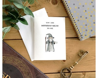 Gandalf Card // lord of the rings, the hobbit, wizard, tolkien, love card, friend card, nerd card, geek card, punny, nerdy, greeting card
