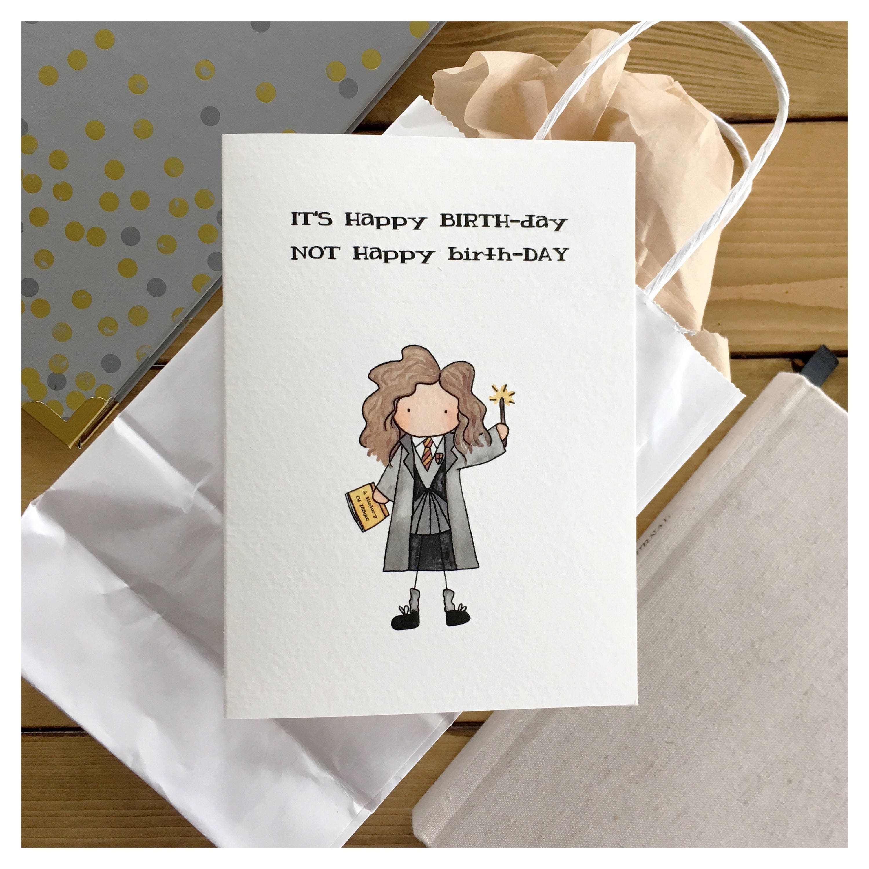 Witch Birthday Card Magical Wizard