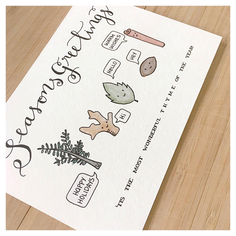 Seasons Greetings Christmas Card Holiday Card Funny Christmas