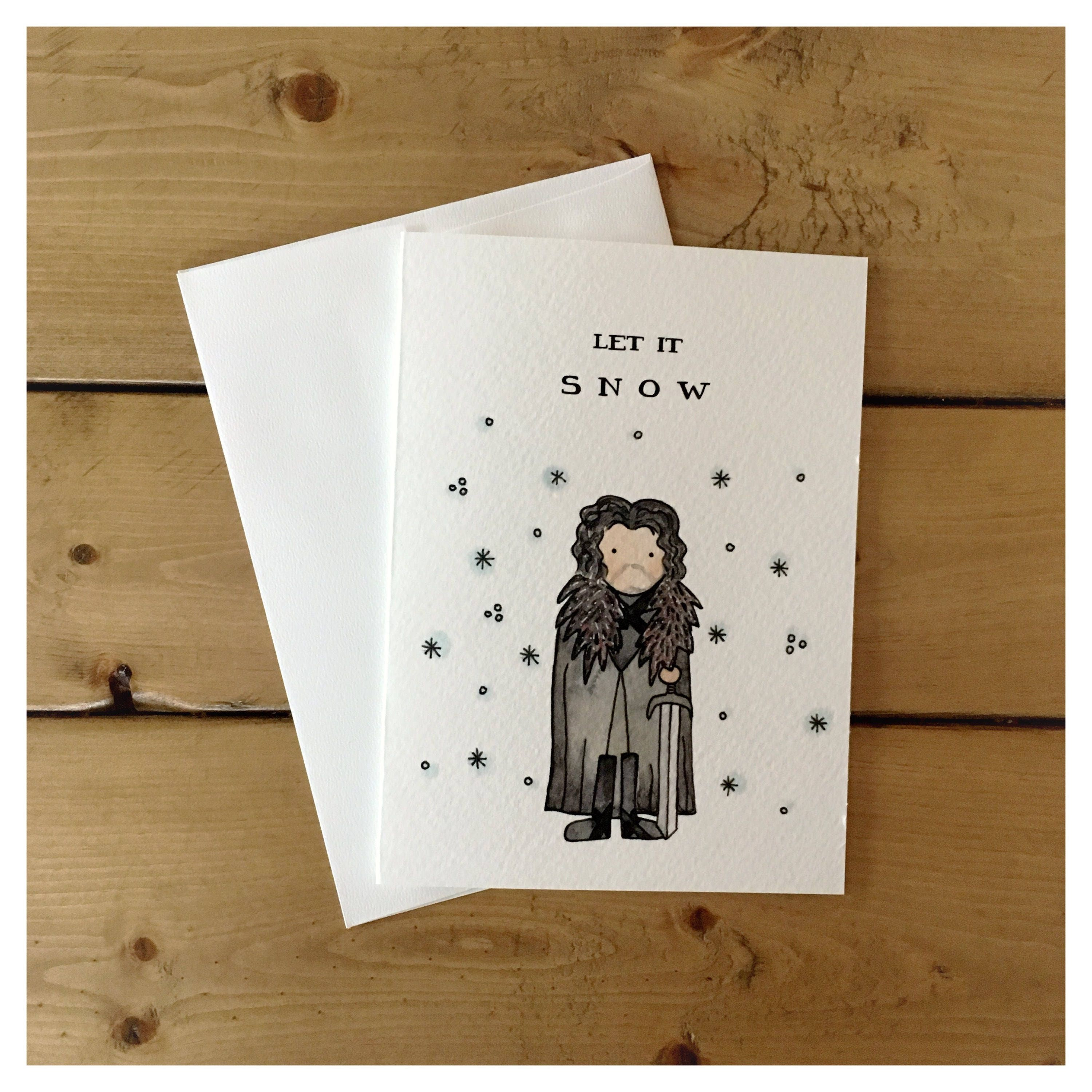Let it snow jon snow game of thrones pun funny card christmas gallery photo gallery photo gallery photo m4hsunfo