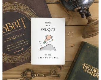 TOLKIEN CARD // my precious, lord of the rings, LOTR, gollum, the hobbit, fandom card, valentines day card, love card, anniversay card, pun