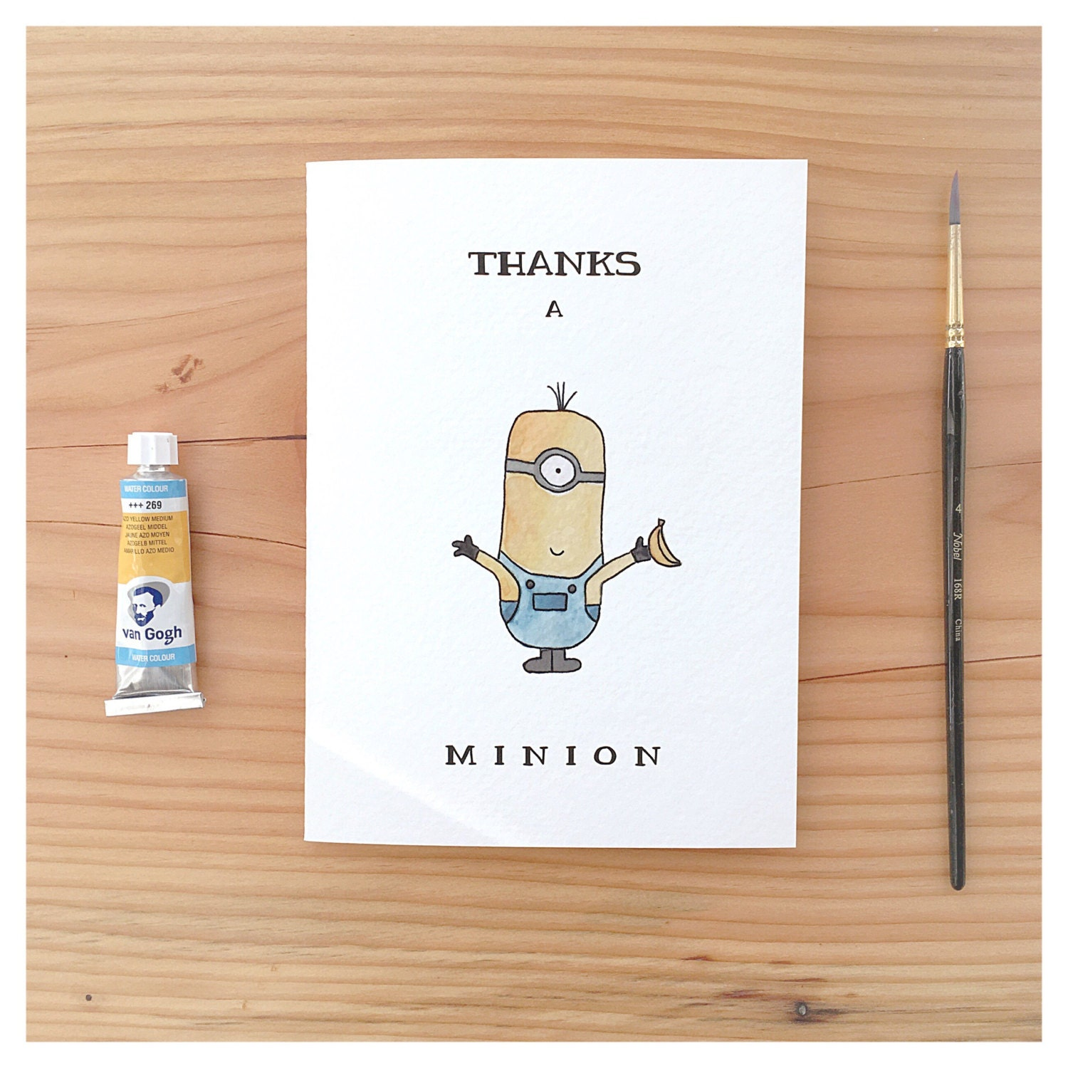 Minion Card Despicable Me Card Thank You Card Funny Thank You