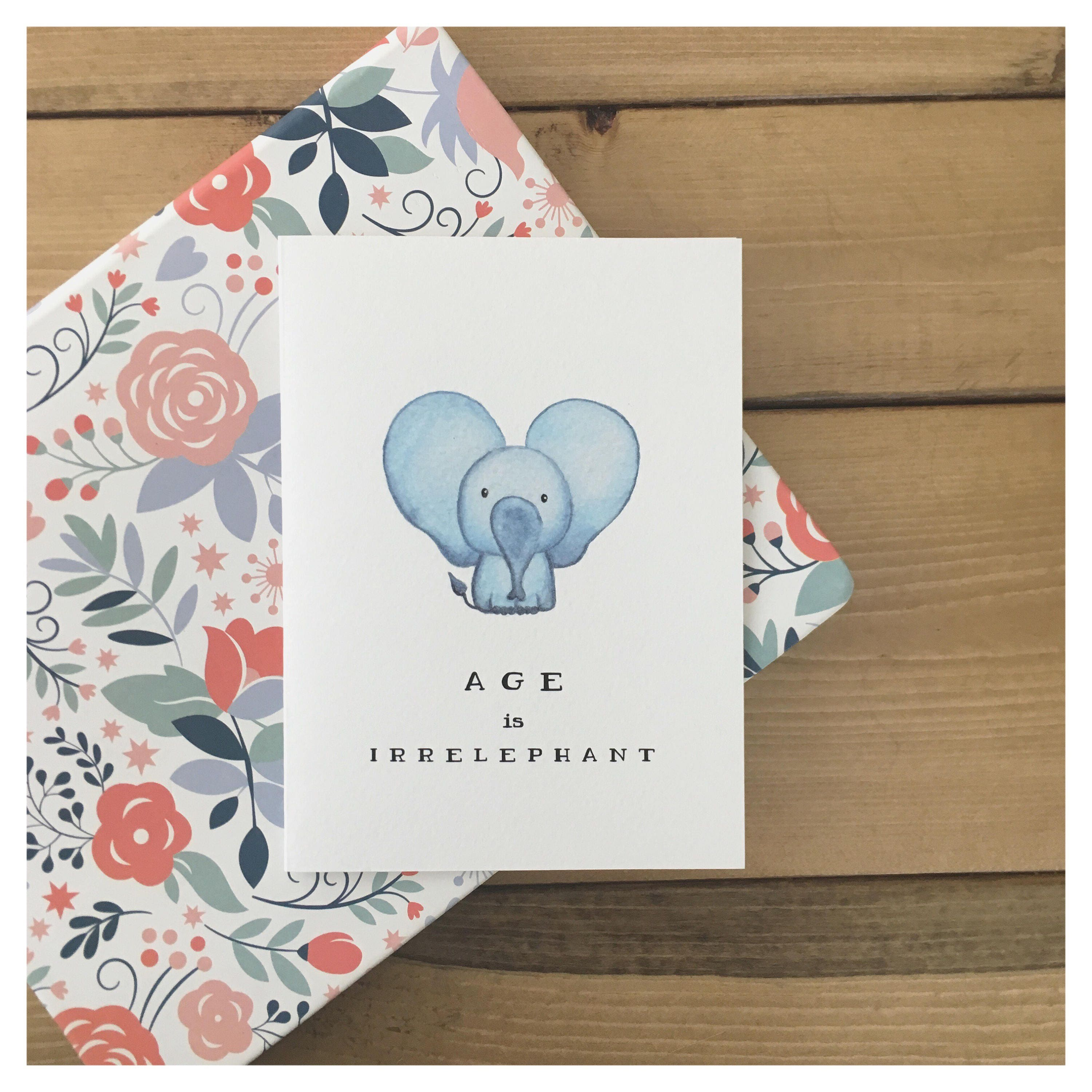 Elephant card funny birthday card birthday card cute birthday elephant card funny birthday card birthday card cute birthday card greeting card cute card cute elephant girlfriend birthday gift m4hsunfo