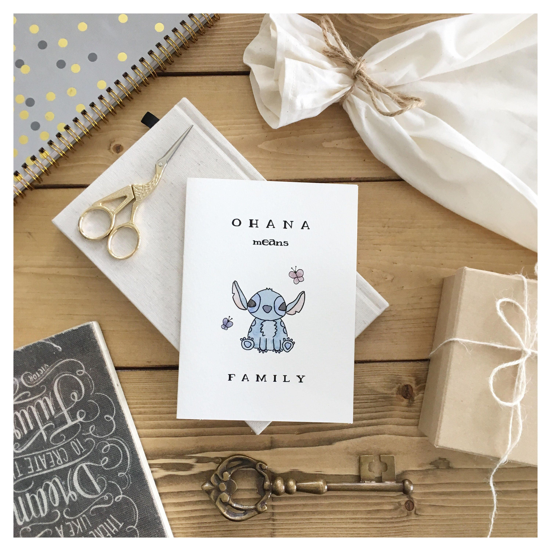 Stitch Card Greeting Card Stitch Family Card Lilo And Stitch