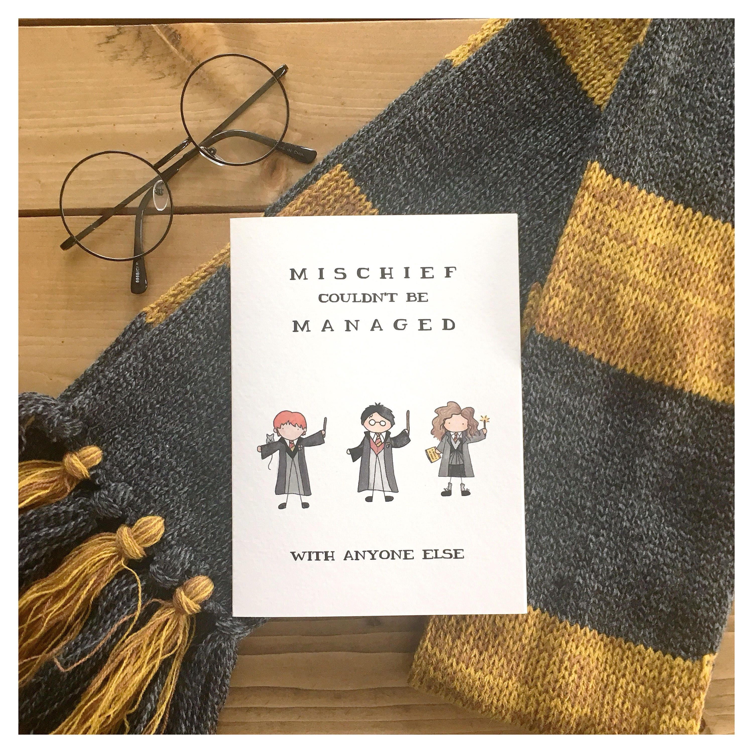 Mischief Managed Card // Harry Potter Card Harry Potter