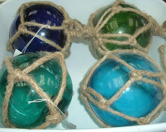Glass Float Ball (5 Inches) with Rope  (EA)