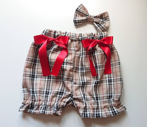 a46205d335 Beautiful Tartan prints cotton Baby's girl's bloomer and Headwrap Cute Baby  Set Baby Girls Clothes summer spring outfit NEW