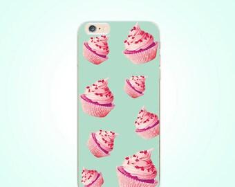 Cupcakes Sweet Cakes TPU Soft case for iPhone X / 8 / 8 Plus / 7 Plus / SE / 6 / 6s / 6 plus / 6 plus s / 5 / 5s / 4 /4s / 5c
