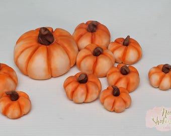 Fall Pumpkins Edible Cake Toppers