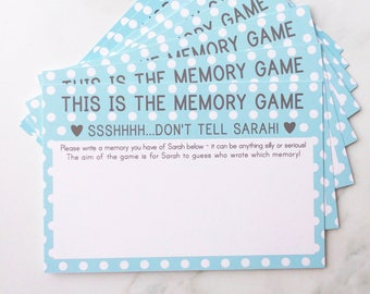 Hen Party Memory Game, Hen Do Game Personalised with the Bride to Be's Name, Hen Party Games for the Bride to be
