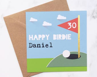 Golf Card Birthday For Lover Male Themed Him Her I Love