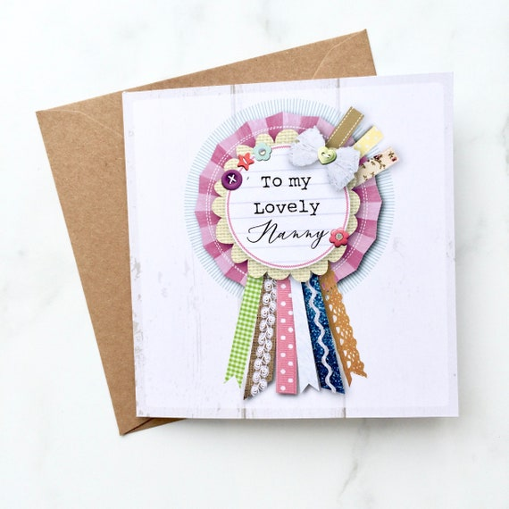 Lovely Nanny Card Birthday