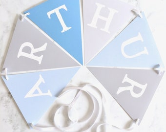 Personalised Party Bunting, Personalised Nursery Bunting, Bunting for Child's Room, Bunting for Playroom, Party Bunting, Bunting Decoration