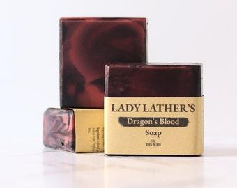 Dragon's Blood Soap • Warm Amber, Incense & Patchouli • Handmade Soap • Luxury Soap • Vegan Soap • Palm Free Soap • Cottagecore Gift •1 Bar