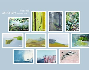 Art Cards A5, Edition 10 Years Studio, 11 pieces in set, 15 x21 cm