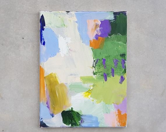 Abstrakte Acrylbild auf Leinwand, 2015, 40 x 30 cm