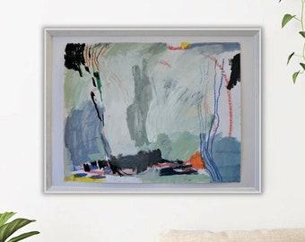 Acryl auf Papier, 2017, 54 x 67 cm