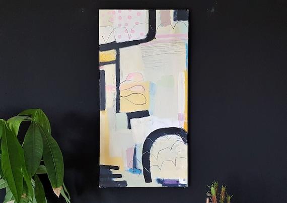 Mischtechnik auf Leinwand, 2019, 80 x 40 cm