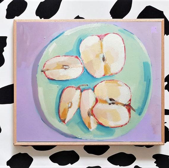 Äpfel, Stillleben, Acryl auf Papier, 2019, 40 x 30 cm