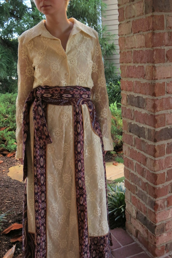 70s Chessa Davis Peasant skirt and blouse