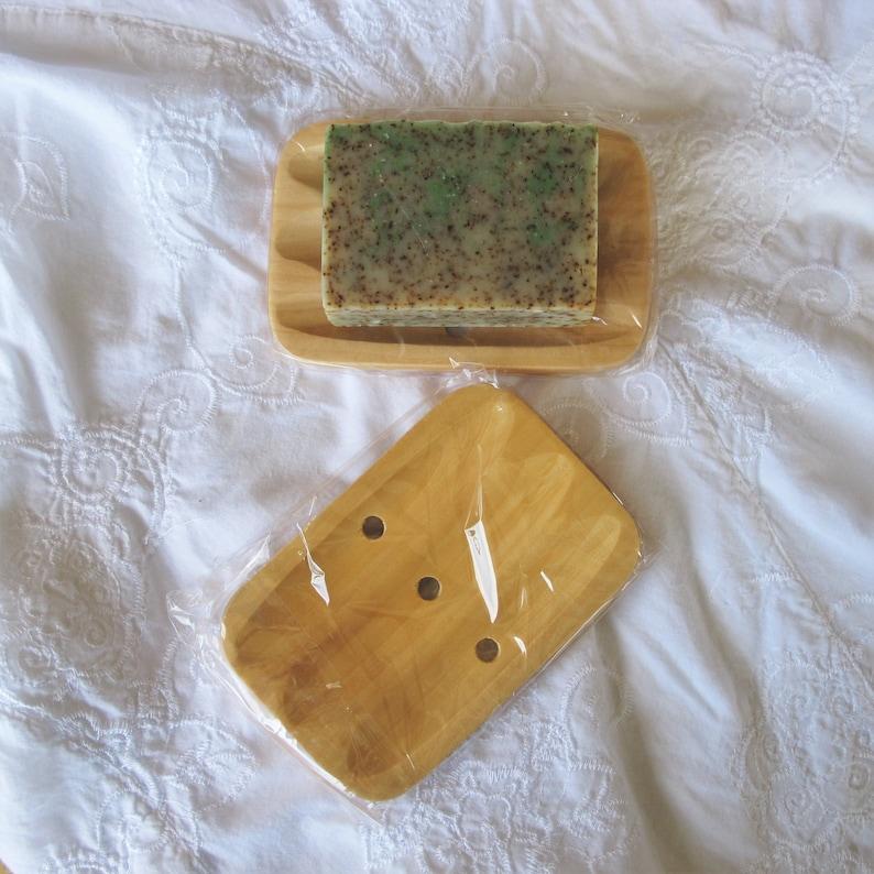 Soap dish wood tray wood dish all natural soap holder soap image 0