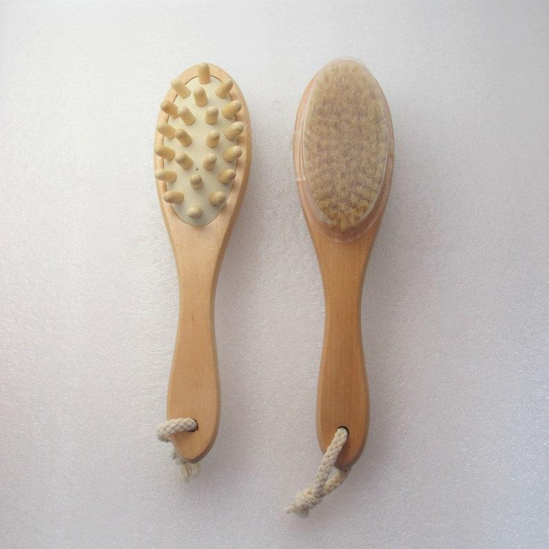 Bath brush natural brush back brush dry brushing natural image 0