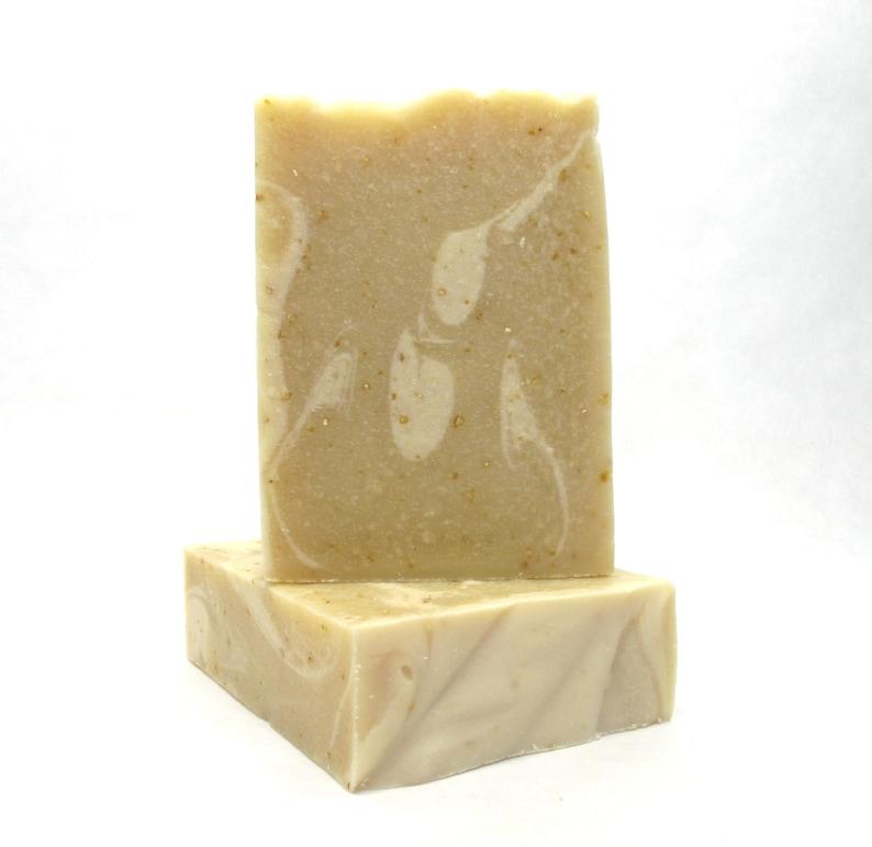 Coconut Milk Oats & Honey Soap Bar skin soothing gentle image 0