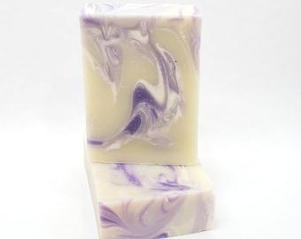 Pure Lavender Natural Soap Bar, essential oil, purple swirl