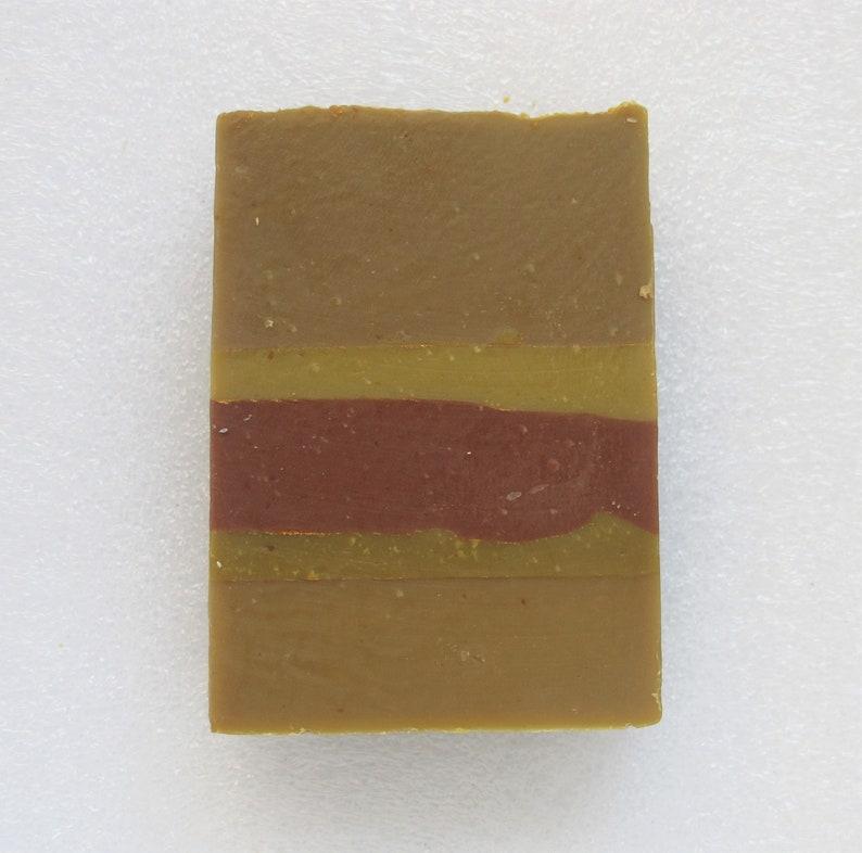 Cardamon Spice Bar Soap natural handmade soap stripes image 0