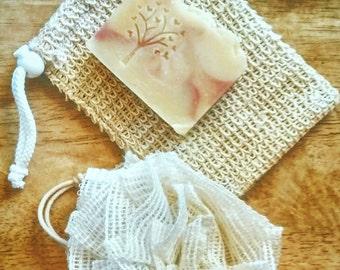 Natural Sisal Soap pocket, soap saver. Ramie scrubbies soap pouf. Eco friendly washcloth
