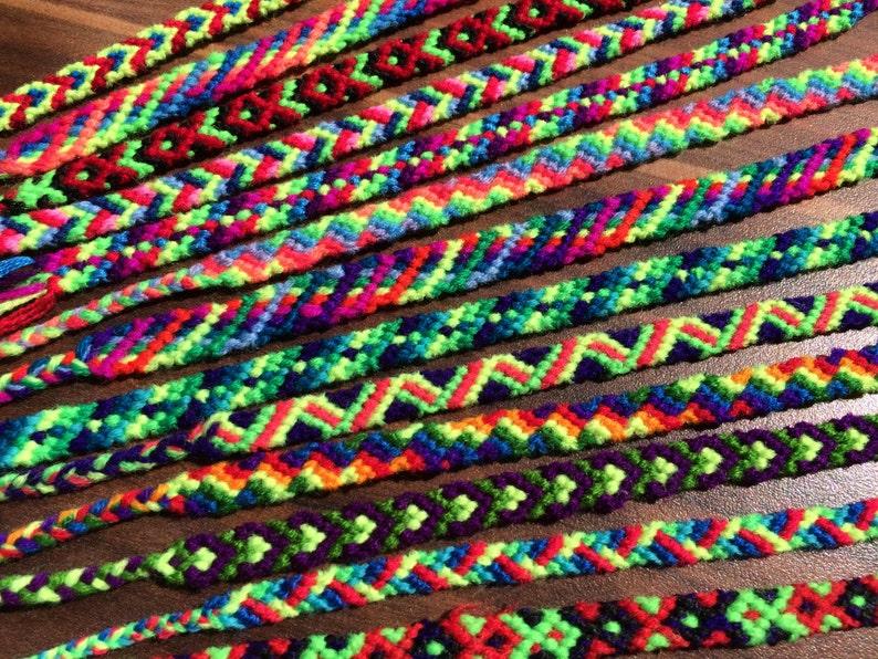 Friendship bracelet Woven Set=2pcs.Braided.HandKnotted.String.Skinny.Narrow.Kinder.Child.Gift.Neon.Rainbow.Boy.Girl.Dad.Mom.Kids friend.Love