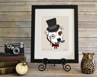 3a3751080f9 I Believe in Monocles Wall Art