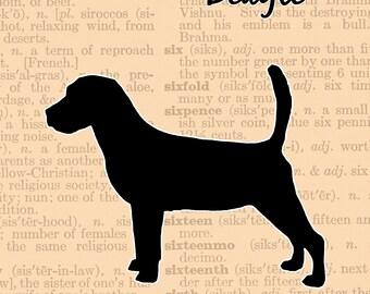 Beagle silhouette | Etsy