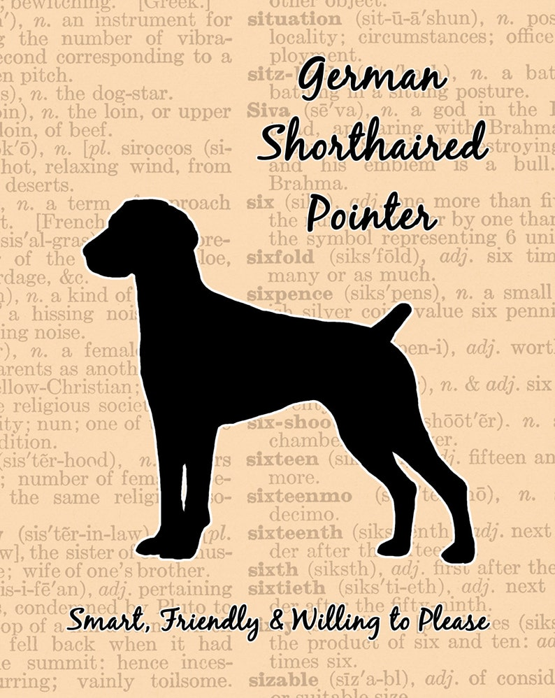 German Shorthaired Pointer Silhouette image 0