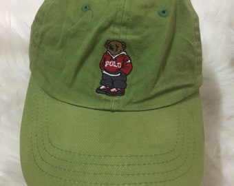 e8609ecac Vintage Original Polo Bear Ralph Lauren Cap Hat Fishing stadium Rare 1967